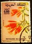 Sellos de Africa - Marruecos -  Flora. Tecoma sp.