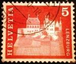 Sellos del Mundo : Europa : Suiza : Edificios. Lenzburg