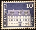 Sellos del Mundo : Europa : Suiza : Edificios. Freuler-Palace, Näfels