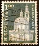 Sellos del Mundo : Europa : Suiza : Edificios. Santa Croce Church, Riva San Vitale