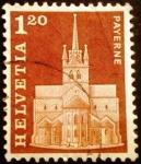Sellos del Mundo : Europa : Suiza : Edificios. Abbey Church, Payerne