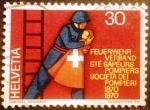 de Europa - Suiza -  Bomberos. Saving a child