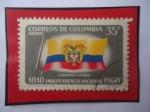 de America - Colombia -  Bandera Nacional - Independencia Nacional (1810-1960) - Libertad y Orden-