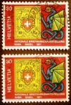 Sellos de Europa - Suiza -  Exposición filatélica. Stamp MiNr. CH 8 & dragon