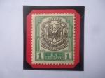 de America - Rep Dominicana -  escudo de Armas - sello de 1 Ctv. Dominicano, año 1911.
