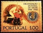 Sellos de Europa - Portugal -  O.M.S. Man Slays Dragon