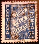 Sellos de Europa - Portugal -  Todo por la Nación