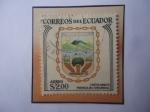 Sellos del Mundo : America : Ecuador : Ambato - Escudo de Armas Cantón Ambato provincia del Tungurahua- Sello de 2,00 Sucre Ecuatoriano.