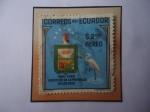 Sellos del Mundo : America : Ecuador : Erección  de la provincia de los Ríos - Centenario (1860-1960) . Escudo de Armas - Fauna.