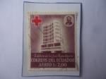 Sellos del Mundo : America : Ecuador : Edificio de la Cruz Roja de Quito.