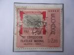 Sellos del Mundo : America : Ecuador : III Exposición Filatélica Nacional-Quito 1961- Sello dentro de otro (1er. cent. de la Fundación de l