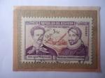 Sellos del Mundo : America : Ecuador : Miguel de Cervantes (1547-1616) Novelista y Dramaturgo Español- 4°Centenario de su Nacimiento (1547-
