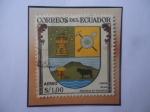 de America - Ecuador -  Mejía- Escudo de Armas de Mejía, Provincia de Pichincha- Sello de 1,00 Sucre Ecuatoriano, año 1960