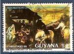 Sellos de America - Guyana -  Navidad de 1988, Adoración de los Magos, por Tiziano