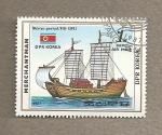 Sellos de Asia - Corea del norte -  Barco mercante coreano período Koryo