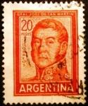 Sellos de America - Argentina -  José Francisco de San Martín