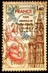 Sellos de Europa - Francia -  Turismo. Torre de la Abadía de San-Amand-les-Eaux