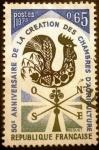 Sellos de Europa - Francia -  50º Aniversario de las Cámaras Agrarias