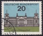 Sellos del Mundo : Europa : Alemania : Edificio del Reichstag, Berlín
