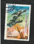 Sellos del Mundo : Europa : Rusia :  4796 - X Anivº del lanzamiento del Saliout I