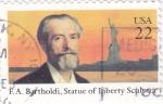 Sellos del Mundo : America : Estados_Unidos :  F.A.BARTHOLDI- escultor Estatua de la Libertad