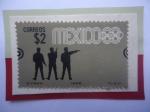 Sellos de America - México -  Tiro con Pistola- Serie: Juego Olímpicos  de Verano 1968- Ciudad de México (III)- Sello de 2 $ Pesos