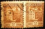 Sellos de Europa - Andorra -  Administración Española. Paisajes. Casa de los Valles
