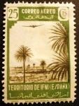 Sellos de Europa - España -  IFNI. Paisajes y avión. Oasis