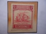 Sellos de America - Paraguay -  Barcos- Una de las Unidades de la Marina Mercante Nacional. Anterior a la Tragedia de 1865-70.