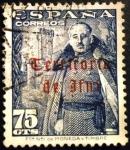 Sellos de Europa - España -  IFNI. Sellos de España de 1948.  Habilitados