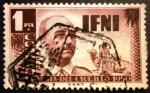 Sellos de Europa - España -  IFNI. Visita del general Franco