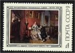 Sellos de Europa - Rusia -  Pinturas de Pavel Andreyecich Fedotov, La novia fastidiosa, Pavel Fedotov (1847)