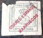 Sellos de Europa - España -  Marruecos español. Sellos de España habilitados