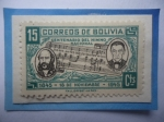 de America - Bolivia -  Centenario del Himno Nacional (1845-1945)-Benedetto Vincenti (Música y José de Sanjinés (Letra).