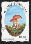 de Africa - Santo Tomé y Principe -  Hongos 1993, Amanita cesarea