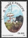 de Africa - Santo Tomé y Principe -  Hongos 1993, Psalliota arvensis