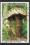 de Africa - Santo Tomé y Principe -  Hongos 1992, Strobilomyces Floccopus