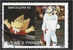 de Africa - Santo Tomé y Principe -  Juegos Olímpicos de Verano 1992 - Barcelona (Medallas), Mascotas de Barcelona y Atlanta