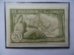 de America - El Salvador -  1er. Centenario Departamento Chalatenango, 14 feb.1855-1955