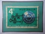 de Oceania - Australia -  150 Aniversario de la Banca Austriaca (1817-1967) - Emblema..