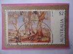 de Oceania - Australia -  Acuarelas de Hans Heysen (1877-1968) Artista Australiano- Sello de 2 dólares Australiano.