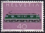 Sellos del Mundo : Europa : Suiza :  locomotora Re 6/6