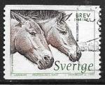 Sellos del Mundo : Europa : Suecia :  Animales - caballo