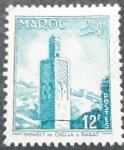 Sellos de Europa - Francia -  MARRUECOS FRANCÉS 1955. Minarete de Chella, Rabat