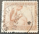 Sellos del Mundo : Europa : Bélgica : CONGO BELGA 1923 Retratos indígenas. Mujer Vannerie