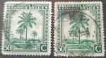 Sellos del Mundo : Europa : Bélgica : CONGO BELGA 1942 Palmeras