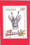 Sellos del Mundo : Europa : Polonia : Caza del Corzo (Capreolus capreolus)