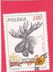 Sellos del Mundo : Europa : Polonia : Caza del alce