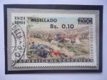 Sellos de America - Venezuela -  140°Aniversario Batalla de Carabobo (24-Junio-1821)-Carga de Caballería-Óleo.Martín Tovary Tovar.