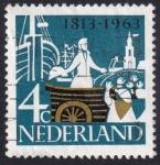 Sellos de Europa - Holanda -  Desembarque del Príncipe de Orange